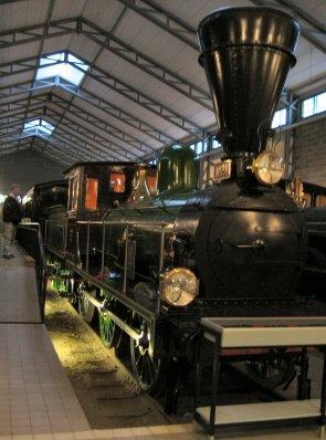 Vanha veturi Suomen Rautatiemuseossa