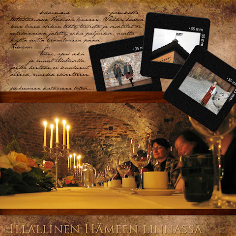 Illallinen Hämeen linnassa