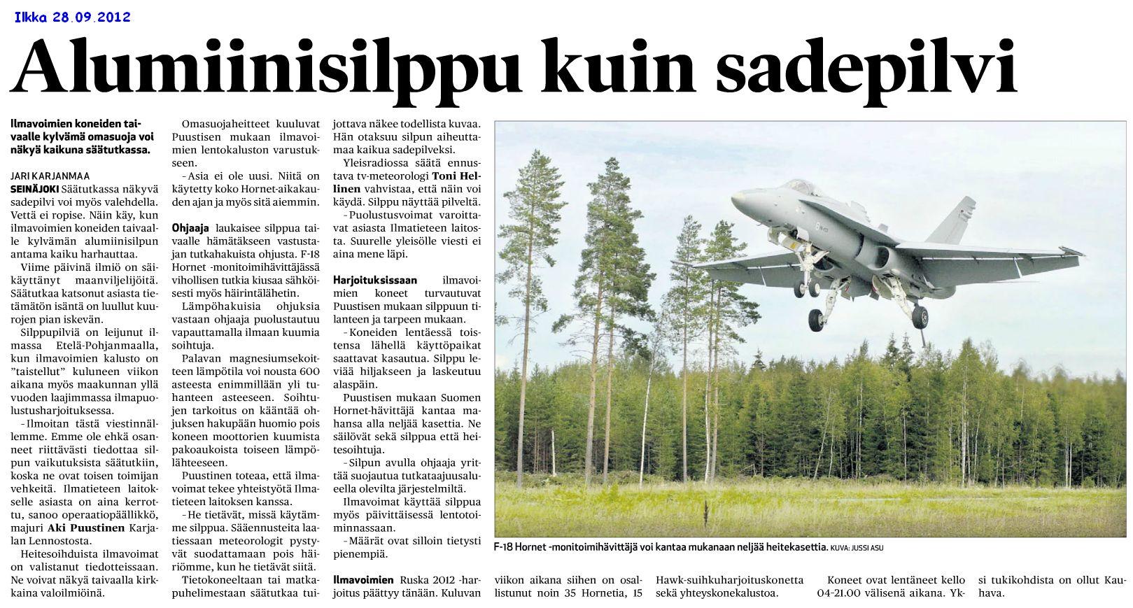 2012-09-28 Ilkka: Alumiinisilppu kuin sadepilvi